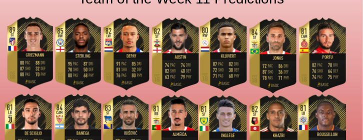 TOTW 11 Predictions